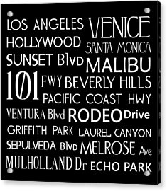 California Destinations Acrylic Print by Jaime Friedman