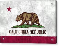 California Flag Acrylic Print