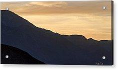 California Golden Desert Sunset Acrylic Print by Heidi Smith