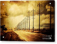 California Highway Acrylic Print by Pam Vick