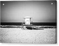 California Lifeguard Tower Black And White Picture Acrylic Print