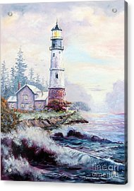 California Lighthouse Acrylic Print by Lee Piper