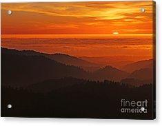 California Mountain Sunset Acrylic Print by Matt Tilghman