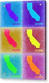 California Pop Art Map 2 Acrylic Print