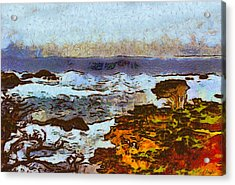 California Seascape Acrylic Print by Barbara Snyder