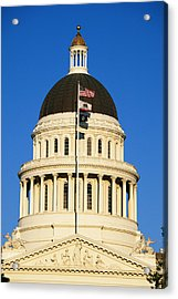 California State Capitol Building Acrylic Print by Panoramic Images