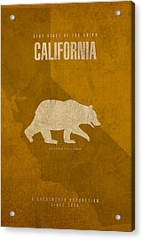 California State Facts Minimalist Movie Poster Art  Acrylic Print by Design Turnpike