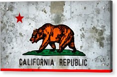 California State Flag Weathered And Worn Acrylic Print