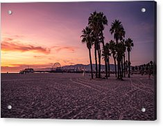 California Sunset At The Beach Acrylic Print by Dennis Fischer Photography