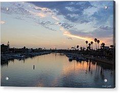 California Sunset Acrylic Print by Heidi Smith