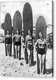 California Surfer Girls Acrylic Print