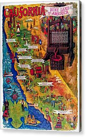 California Wine Map Acrylic Print