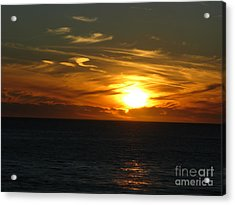California Winter Sunset Acrylic Print