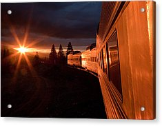California Zephyr Sunset Acrylic Print