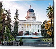 Californias Capital Acrylic Print by Janet Kopper