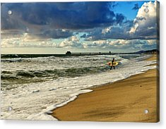 California's Stormy Surf  Acrylic Print by Donna Pagakis