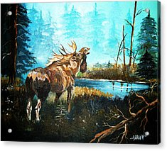 Acrylic Print featuring the painting Call In The Mist by Al Brown