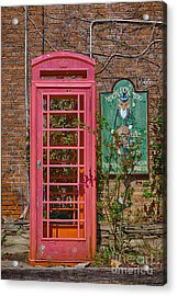 Call Me - Abandoned Phone Booth Acrylic Print by Kay Pickens