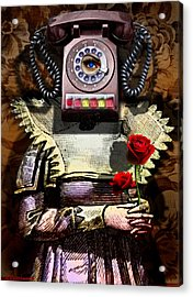 Call Me Sometime Acrylic Print by Larry Butterworth
