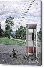 Call Me When You Get There Acrylic Print by Edward Fielding
