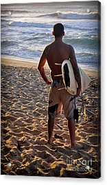 Acrylic Print featuring the photograph Call Of The Surf by Gina Savage