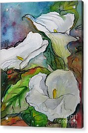 Calla Lilies Acrylic Print by Gwen Nichols