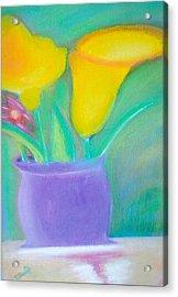 Calla Lilies Supreme Acrylic Print