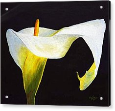 Calla Lily Acrylic Print by Bruce Combs - REACH BEYOND