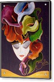 Calla Lily Dame.. Acrylic Print