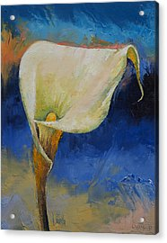 Calla Lily Acrylic Print by Michael Creese