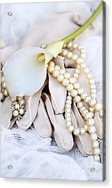 Calla Lily With Pearls Acrylic Print