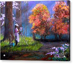 Callaway Garden Artist Acrylic Print by Gretchen Allen