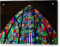 Callaway Gardens Chapel Stained Glass Acrylic Print by Roe Rader