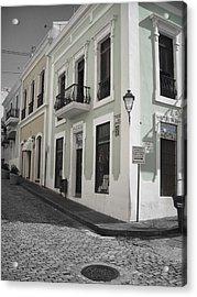 Calle De Luna Y Calle Del Cristo Acrylic Print by Daniel Sheldon