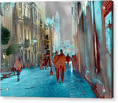 Calle Zamora De Salamanca Acrylic Print