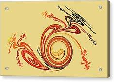 Calligraphy Acrylic Print by Anastasiya Malakhova