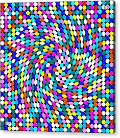 Calm Dots Acrylic Print by George Curington