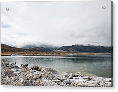Calm Lake Against Mountain Range Acrylic Print by Christian Soldatke / EyeEm