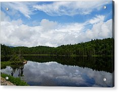 Calm Lake - Turbulent Sky Acrylic Print by Georgia Mizuleva