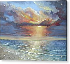 Acrylic Print featuring the painting Calm by Katalin Luczay