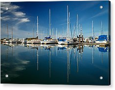 Calm Masts Acrylic Print