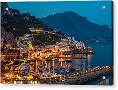 Calm Night Over Amalfi Coast Acrylic Print