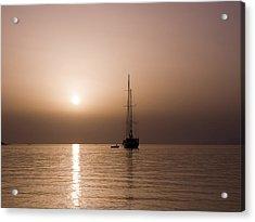 Calm Sea And Quiet Voyage Acrylic Print