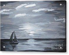 Calm Seas Acrylic Print by Haleema Nuredeen