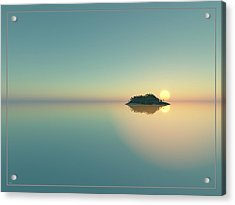 Calm Seas Sunset... Acrylic Print by Tim Fillingim