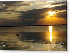 Calm Sunset Acrylic Print by Tannis  Baldwin