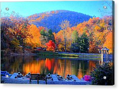 Calm Waters In The Mountains Acrylic Print