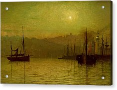 Calm Waters, Scarborough, 1880 Acrylic Print by John Atkinson Grimshaw