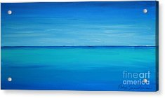 Calming Turquise Sea Part 1 Of 2 Acrylic Print