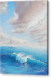 Calming Ocean Acrylic Print by Joe Mandrick